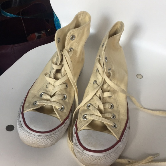 Converse Shoes - Cream colored converse high tops! a25db08af